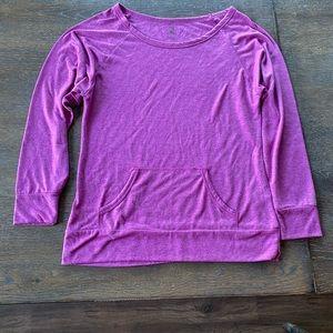 Womens long sleeve athleisure purple berry small